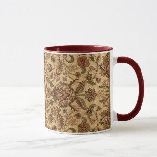 Gold Flowers Arabesque oriental tapastery Mug