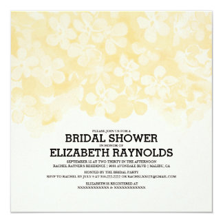 Gold Flowers Bridal Shower Invitations Personalized Invitation