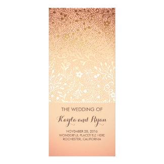 Gold Flowers Vintage Blush Wedding Programs