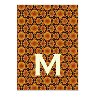 Gold Flowers Wedding Monogram M Template Y173 Personalized Invitation