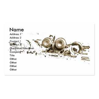 gold flute business card template