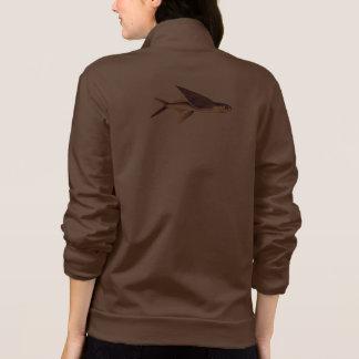 Gold Flying Fish Printed Jacket