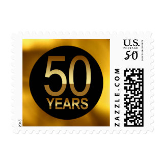 Gold Foil 50 Years Glam | gold black Postage