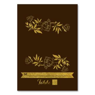 Gold foil ampersand & scroll wedding escort card table card