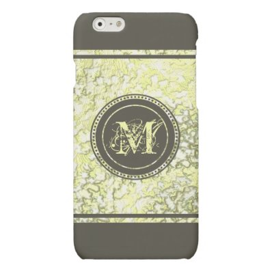 Gold Foil and Dark Taupe Brown Matte iPhone 6 Case