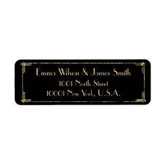 Gold Foil Art Deco Return Address Labels
