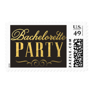 Gold Foil Bachelorette Party Elegant Postage Stamp