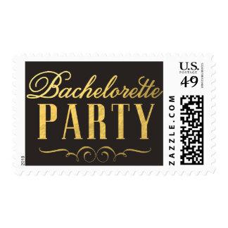 Gold Foil Bachelorette Party Elegant Postage Stamp