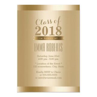 Gold Foil Background Graduation Party Card