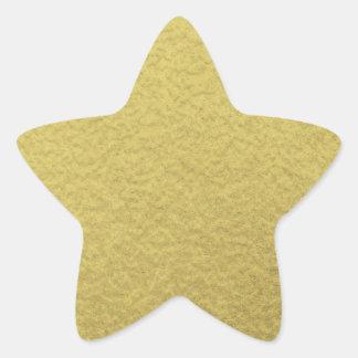 Gold Foil Background Texture Star Sticker