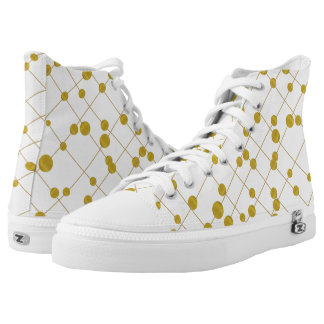 Gold foil beads modern yet chic retro printed shoes