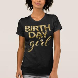 Gold Foil Birthday Girl Shirt