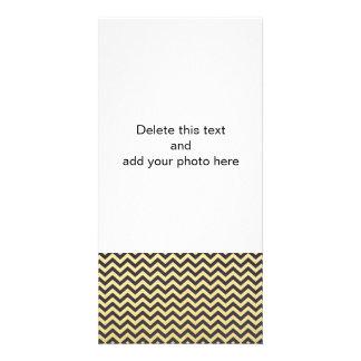 Gold Foil Black Chevron Pattern Card