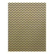 Gold Foil Black Chevron Pattern Flyer