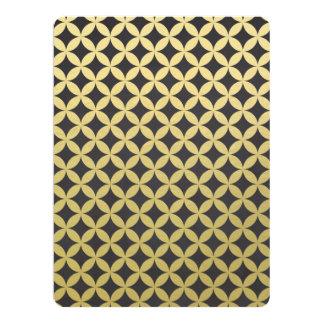 Gold Foil Black Diamond Circle Pattern Card