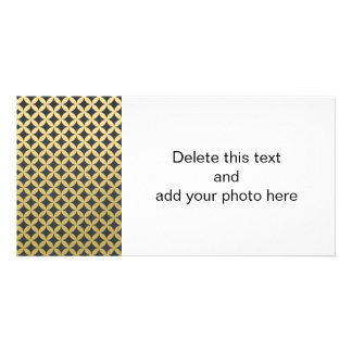Gold Foil Black Diamond Circle Pattern Card