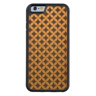 Gold Foil Black Diamond Circle Pattern Carved® Cherry iPhone 6 Bumper Case