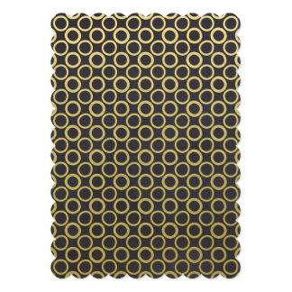 Gold Foil Black Polka Dots Pattern Card