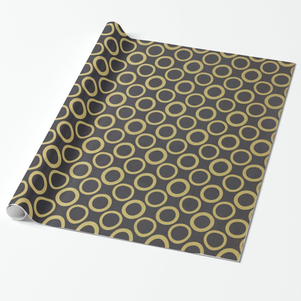 Gold Foil Black Polka Dots