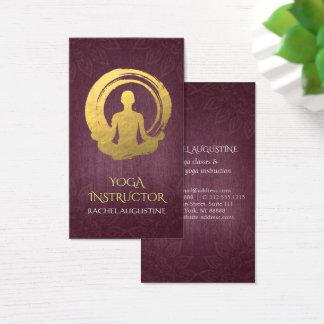Gold Foil Calligraphy Yoga Meditation & ZEN Symbol Business Card