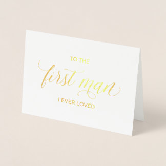 Gold Foil Card | to my father on my wedding day