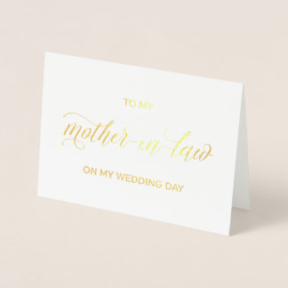 Gold Foil Card | to my mother on my wedding day