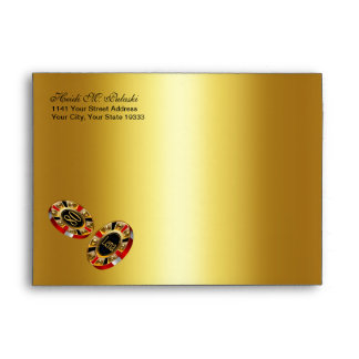 Gold Foil Casino Chip ASK ME TO ADD NAMES TO CHIPS Envelope