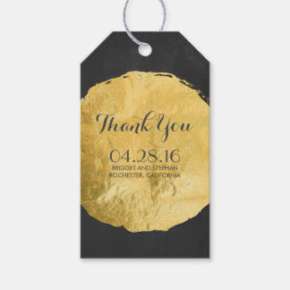 Gold Foil Chalkboard Wedding Gift Tags