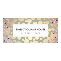 Gold Foil Circles Confetti Gift Certificate Sage