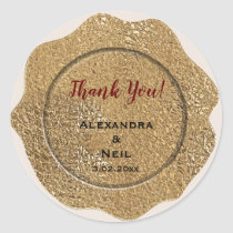 Gold Foil Classic Round Sticker