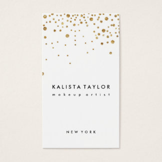 Gold foil confetti business card