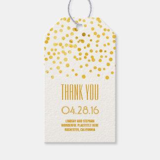 Gold Foil Confetti Elegant Wedding Gift Tags