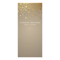 Gold Foil Confetti Modern Business Rack Card