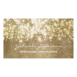 Gold Foil Confetti Vintage Elegant Double-Sided Standard Business Cards (Pack Of 100)
