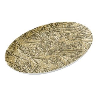 Gold Foil Design Porcelain Serving Platter