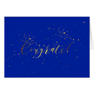 Gold Foil Effect Congratulations Card