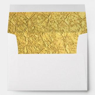 Gold Foil-Effect lined Envelopes