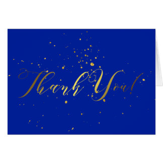 Gold Foil Effect Thank You Card