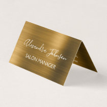 Gold Foil Elegant Modern Luxury Business Card