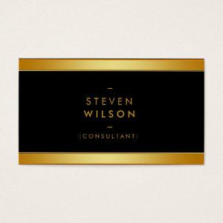 Gold Foil Elegant Retro Financial Services Business Card