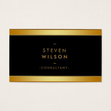 Lawyer Themed Gold Foil Elegant Retro Financial Services Business Card