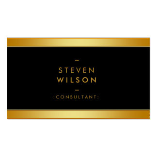 Gold Foil Elegant Retro Financial Services Double-Sided Standard Business Cards (Pack Of 100)