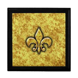 Gold Foil Fleur De Lis Gift Box