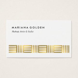 Gold Foil Geometric Business Card Template