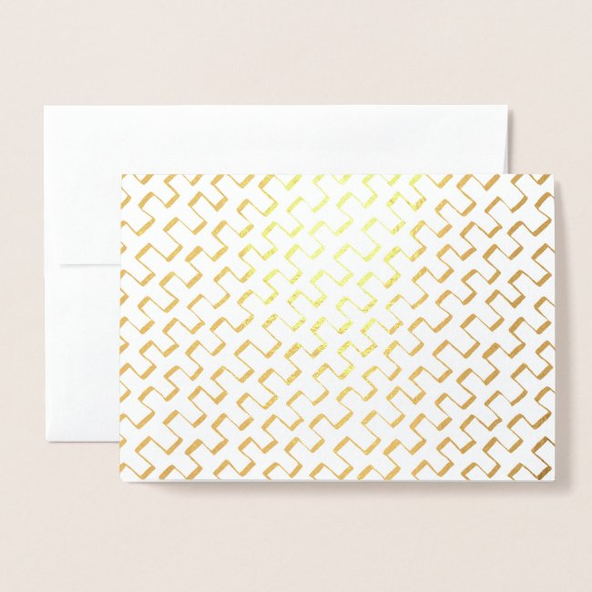 Gold Foil Geometric Painted Pattern