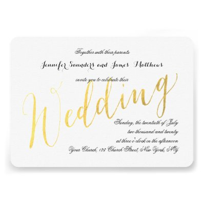 The Most Beautiful Wedding Invitations RSVP Cards And Much More Gold Foil Glamor