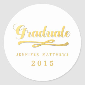 Gold Foil Glamor | Graduation Sticker