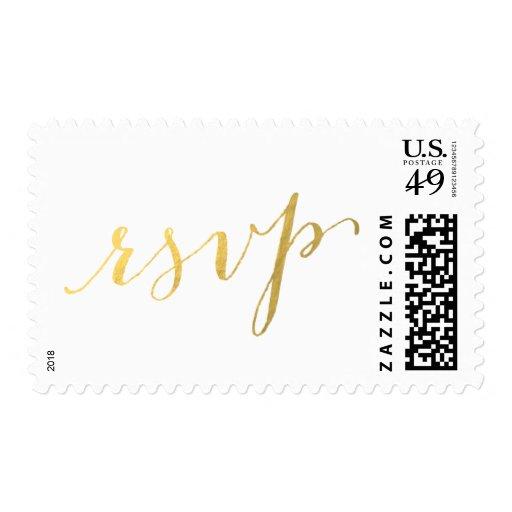 Gold Foil Glamor   RSVP Postage