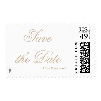 Gold Foil Glamour Save the Date Postage