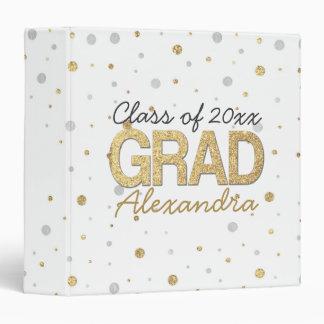 Gold Foil Glitter Confetti Graduation Party Custom Binders